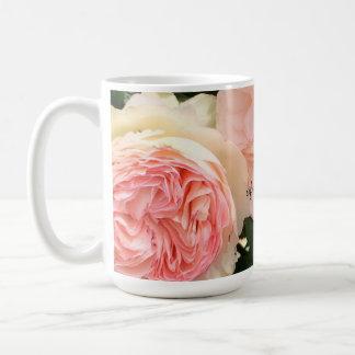Pink Roses Mother of the Bride Basic White Mug