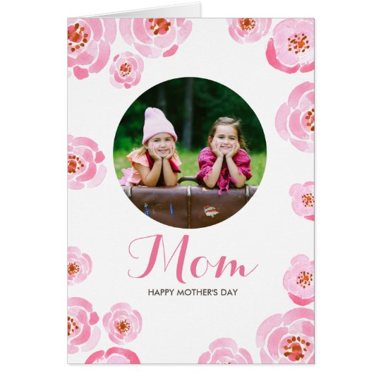 Pink Roses Mother's Day Card