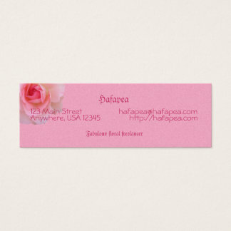 Pink Roses Mother's Day Mini Business Card