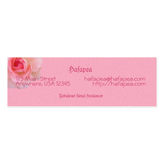 Pink Roses Mother's Day Pack Of Skinny Business Cards