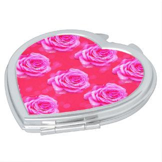 Pink Roses On Pink Bokeh, Vanity Mirror