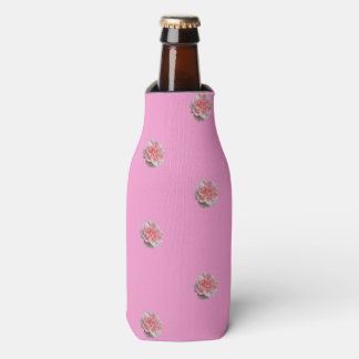 Pink Roses on Pink Bottle Cooler