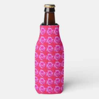 Pink Roses On Pink, Bottle Cooler