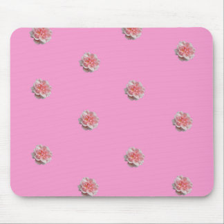 Pink Roses on Pink Mouse Mat