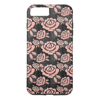 Pink Roses ona a Black Backround iPhone 8 Plus/7 Plus Case