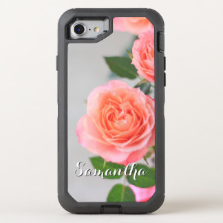 Pink Roses Otterbox phone OtterBox Defender iPhone 8/7 Case