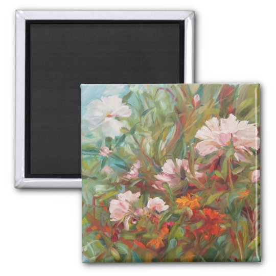 Pink roses painting Magnet