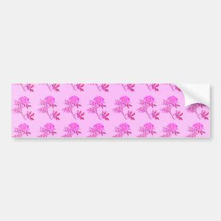 Pink Roses pattern Bumper Sticker