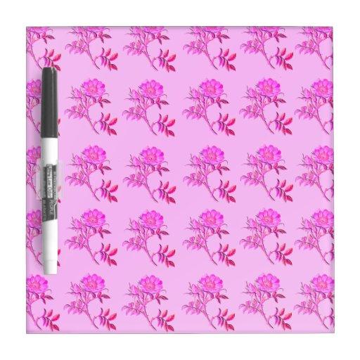 Pink Roses pattern Dry Erase Boards