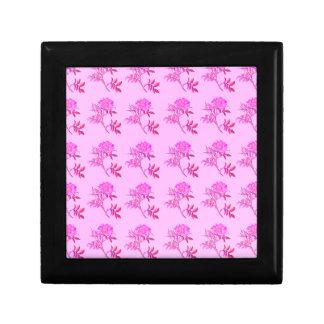 Pink Roses pattern Keepsake Box
