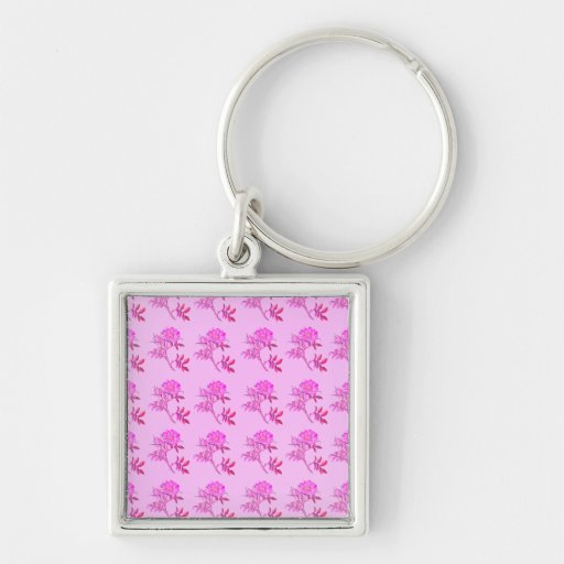 Pink Roses pattern Key Chains
