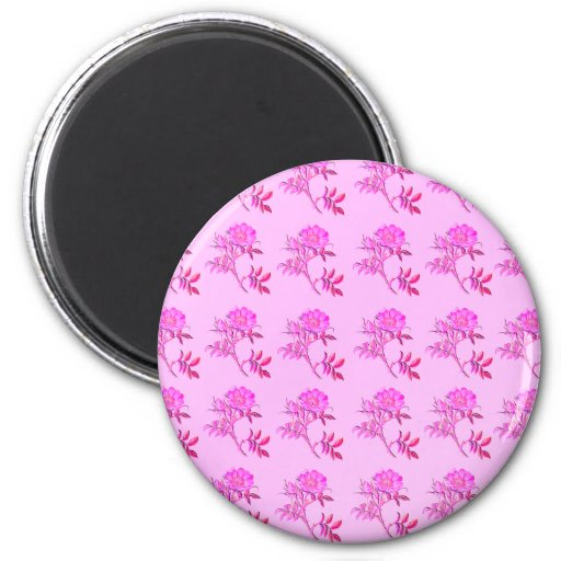 Pink Roses pattern Fridge Magnets