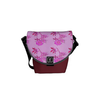 Pink Roses pattern Courier Bags