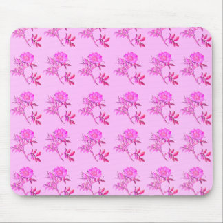 Pink Roses pattern Mouse Pad