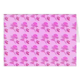 Pink Roses pattern Note Card