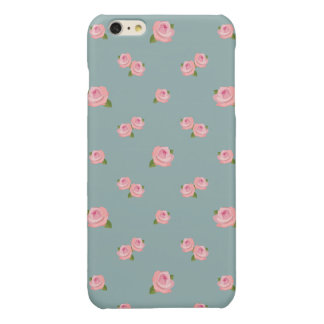 Pink Roses Pattern on Light Teal iPhone 6 Plus Case