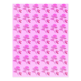 Pink Roses pattern Postcards