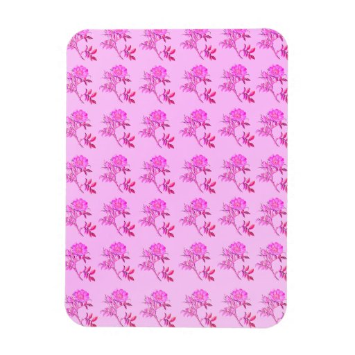Pink Roses pattern Rectangle Magnet
