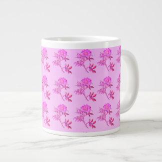 Pink Roses pattern Jumbo Mugs