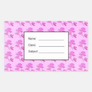 Pink Roses pattern Rectangular Stickers