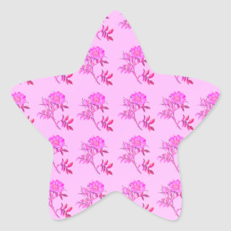 Pink Roses pattern Stickers