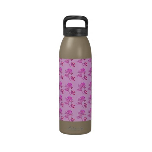 Pink Roses pattern Reusable Water Bottles