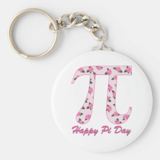 Pink Roses Pi Key Chains
