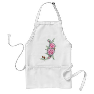 PINK ROSES & PINE CONES by SHARON SHARPE Standard Apron