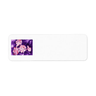 Pink Roses Return Address Label