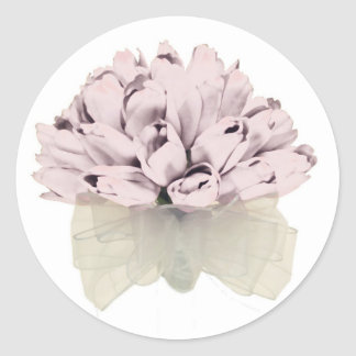 Pink Roses ~ Round Sticker