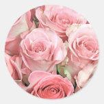 Pink Roses Round Sticker