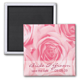Pink Roses Save the Date Fridge Magnet