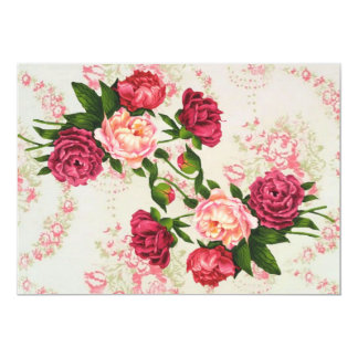 Pink Roses Save The Date 13 Cm X 18 Cm Invitation Card