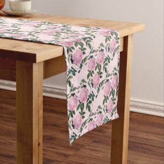 Pink Roses Short Table Runner