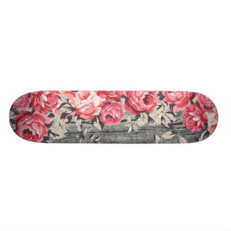Pink Roses Skateboard Deck