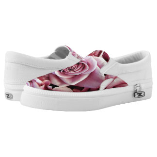 Pink Roses Slip-on Sneakers