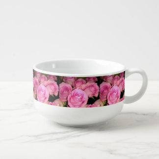 Pink Roses Soup Mug