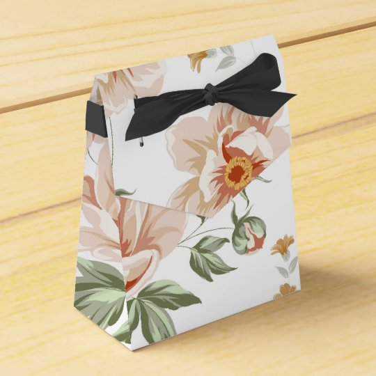 Pink Roses Tent Style Favour Box