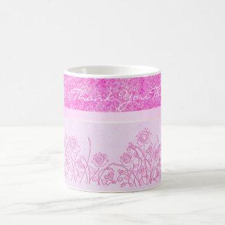 pink roses thank you mug