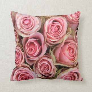 Pink roses  trow pillow