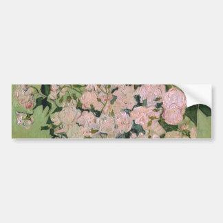 Pink Roses Van Gogh Fine Art Bumper Sticker