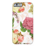 Pink roses vintage floral pattern barely there iPhone 6 case