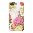 Pink roses vintage floral pattern case for the iPhone 4
