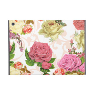 Pink roses vintage floral pattern cover for iPad mini