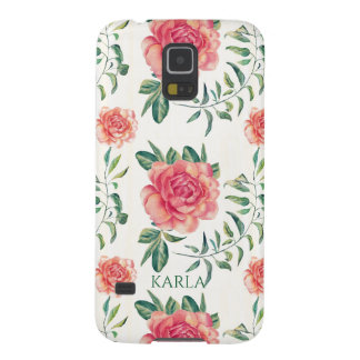 Pink Roses Watercolors Illustration Pattern GR1 Galaxy S5 Covers