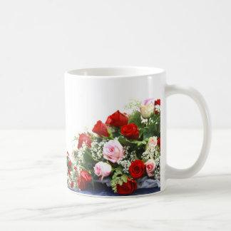 Pink Roses Wedding Bouquet Mugs