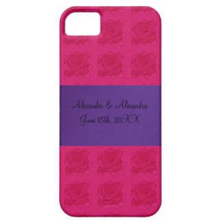 Pink roses wedding favors iPhone 5 cover