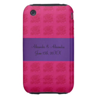 Pink roses wedding favors tough iPhone 3 covers