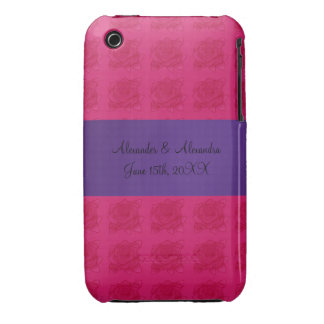 Pink roses wedding favors iPhone 3 Case-Mate cases