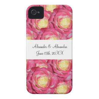 Pink roses wedding favors iPhone 4 case